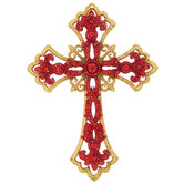 Pointed Edge Cross Ornament
