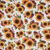 Sunflower, Chrysanthemum & Wheat Cotton Fabric