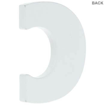 """White Wood Letters C - 2"""""""