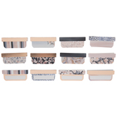 Navy & Blush Foil Adhesive Tabs