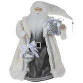 White & Silver Santa Claus Tree Topper