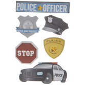 Police Officer 3D Stickers