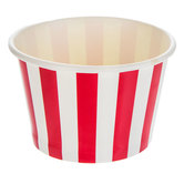 Red & White Striped Paper Snack Bowls