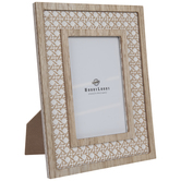 "Whitewash Knot Wood Frame - 4"" x 6"""