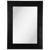 Black Carved Wood Wall Mirror