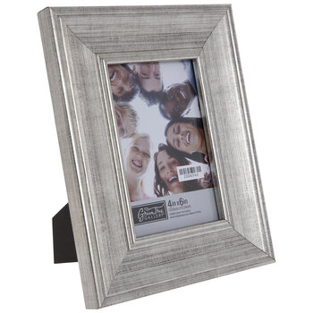 Brushed Silver Beveled Frame