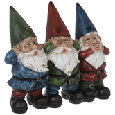 Hear See Speak Gnome Evil