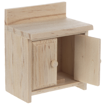 Miniature Wood Cabinet With Doors