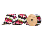 Floral, Striped & Dot Wired Edge Ribbon - 2 1/2""
