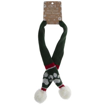 Green Holiday Dog Scarf - Medium