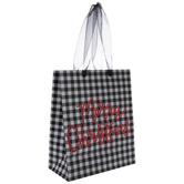 Black Buffalo Check Merry Gift Bag