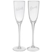Bride & Groom Etched Toasting Glasses