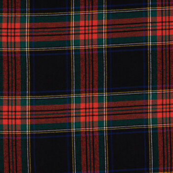 Red, Blue & Green Plaid Flannel Fabric