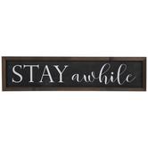 Stay Awhile Wood Wall Decor