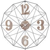 Black Wire Frame Metal Wall Clock
