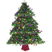 Christmas Tree Tinsel Wall Decor