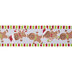 Gingerbread Men Wired Edge Ribbon - 2 1/2