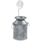 Milk Can Metal Place Card Holder