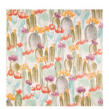 "Watercolor Cactus Scrapbook Paper - 12"" x 12"""