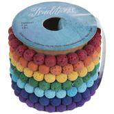 Rainbow Lava Bead Bracelet Spool