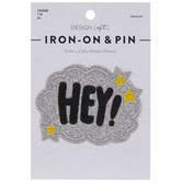 Hey! Glitter Cloud Iron-On Applique