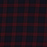 Burgundy & Navy Plaid Apparel Fabric