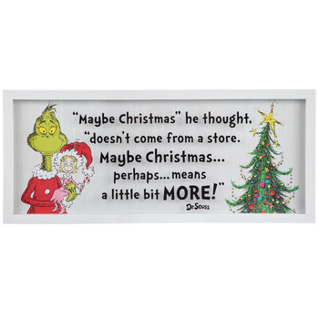 Maybe Christmas Framed Wall Decor