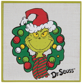 Dr. Seuss The Grinch Wreath Wood Wall Decor
