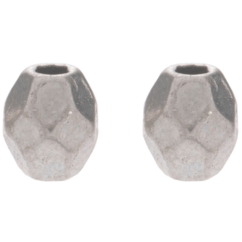 Faceted Oval Metal Beads - 3mm x 4mm