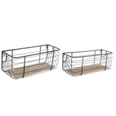Black Wire Metal Wall Shelves