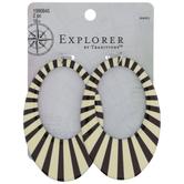 Black & White Striped Open Oval Pendants