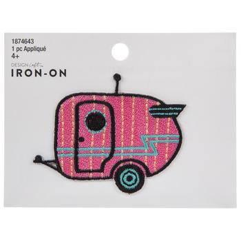 Pink Camper Iron-On Applique