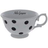 Hello Gorgeous Polka Dot Tea Cup