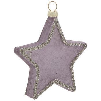 Purple Glitter Star Ornament