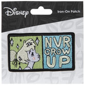 Never Grow Up Iron-On Applique