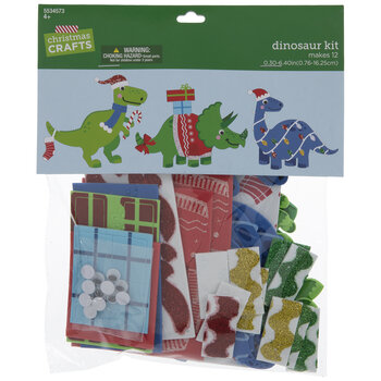 Christmas Dinosaurs Foam Craft Kit