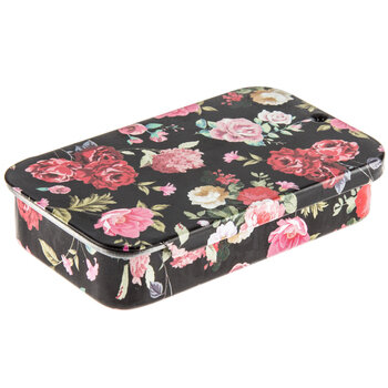Floral Tin Needle Box