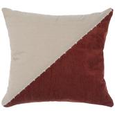 Orange & Beige Dual Print Pillow Cover