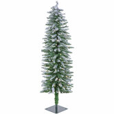 Flocked Accent Pre-Lit Christmas Tree - 4'