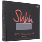 Red Shhh LED Neon Lamp