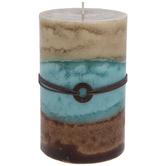 Beach House Layered Pillar Candle