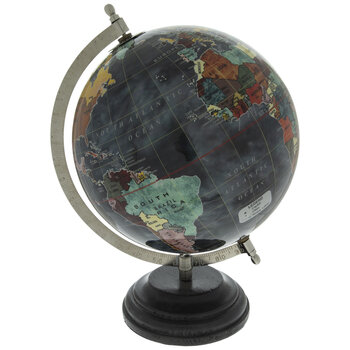 Multi-Color Globe With Black Base