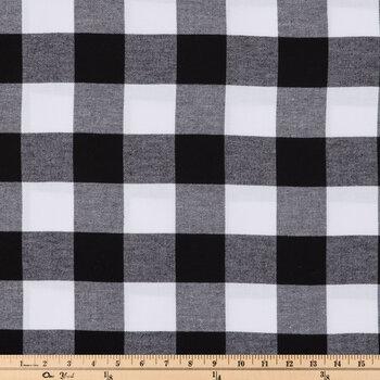 Black & White Buffalo Check Flannel Fabric