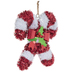 Tinsel Candy Canes Wreath Embellishment