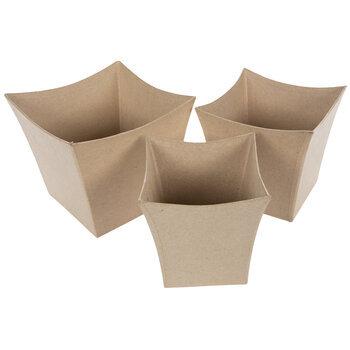 Paper Mache Planters Set