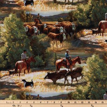 Sagebrush Scenic Cotton Calico Fabric