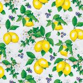 Lemon Cotton Calico Fabric