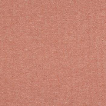 Burnt Orange Herringbone Cotton Calico Fabric