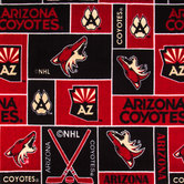 NHL Arizona Coyotes Block Fleece Fabric