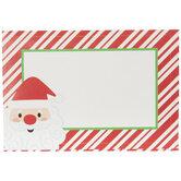 Santa Striped Gift Tag Stickers